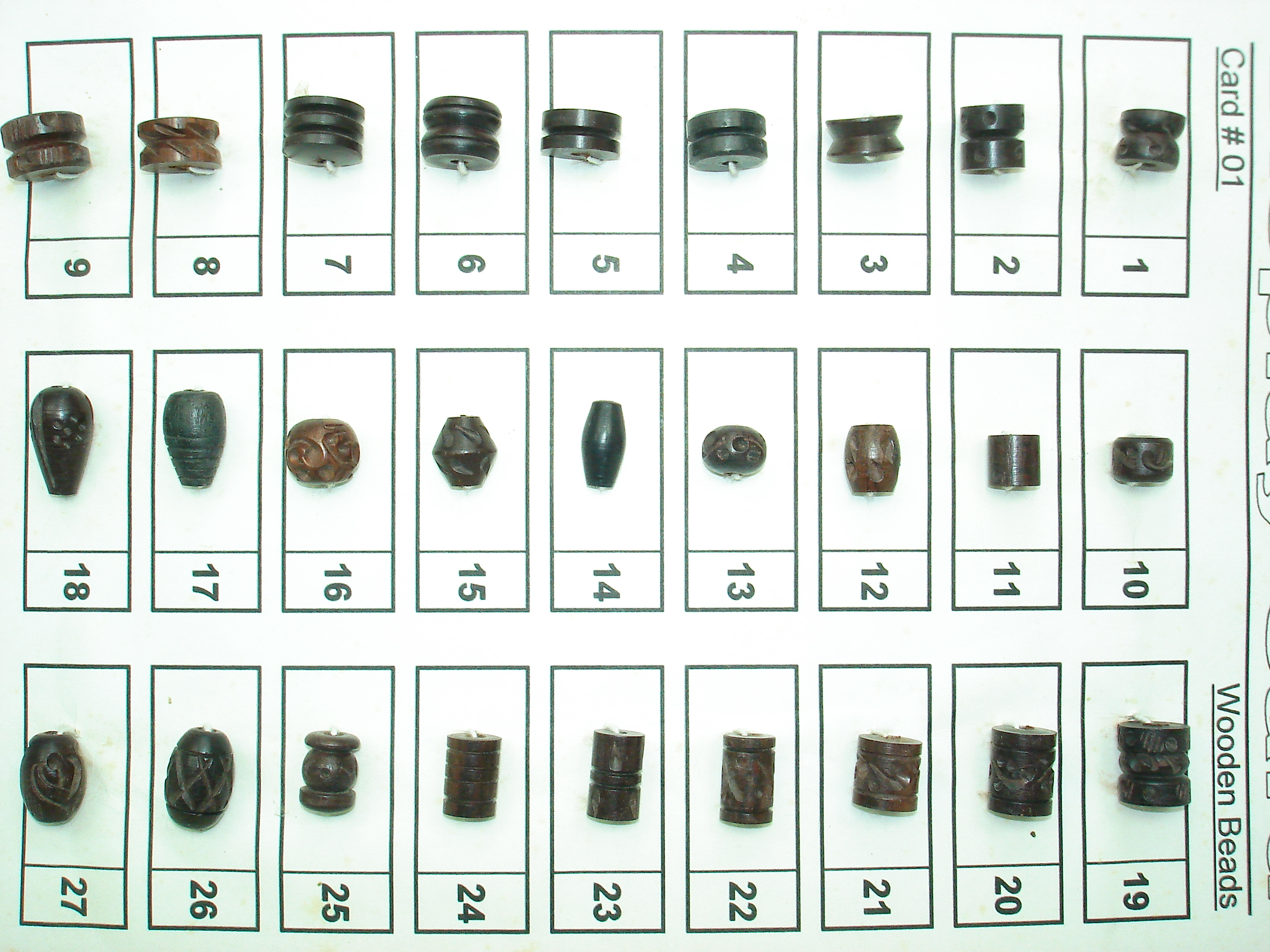 wooden carving beads