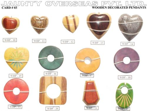 Wooden Decorated Pendants 03