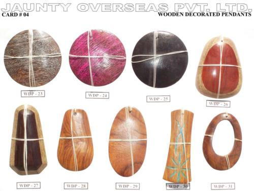 Wooden Decorated Pendants 04